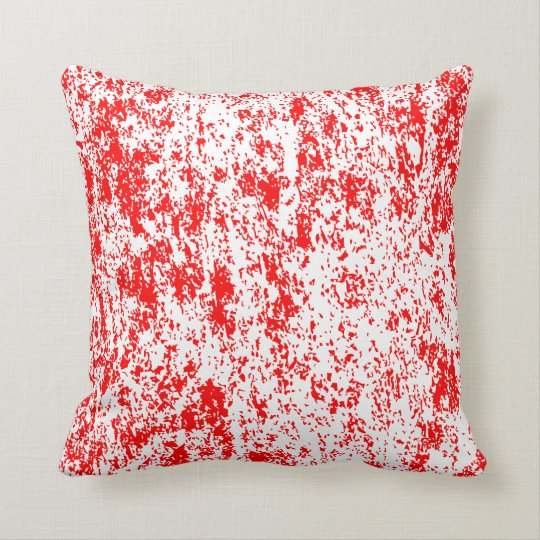 Reversible Red and White Textured Pillow