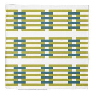 Reversible Retro Geometric Floral Duvet Cover