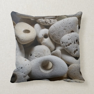 Reversible trendy beach stones rocks throw pillow