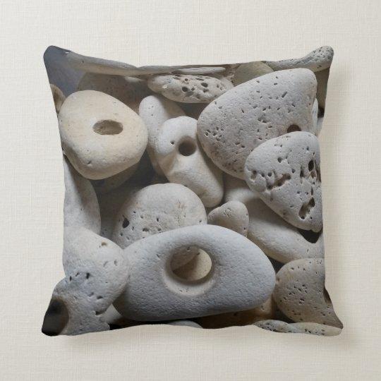 Reversible trendy beach stones rocks throw pillow