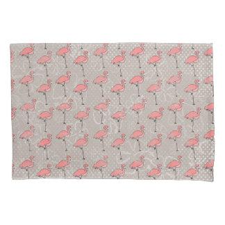 Reversible Tropics Flamingo and Hibiscus Pillowcase