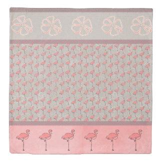 Reversible Tropics Flamingo Duvet Cover