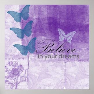 Rêves lilas inspirés poster