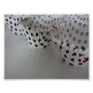 Revêtements de petit gâteau de point de polka poster