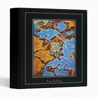 REVISED Binder William Morris Print Blue Floral