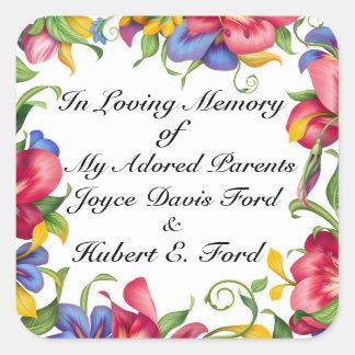 Revised Bookplate, In Memoriam, Donation Square Sticker