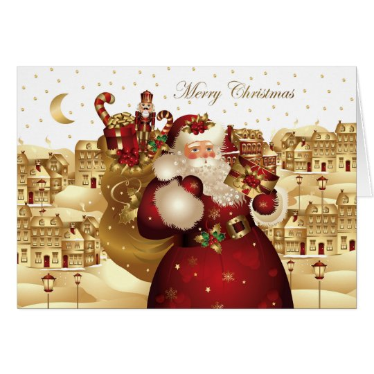 Revised Elegant Santa Christmas Note Card