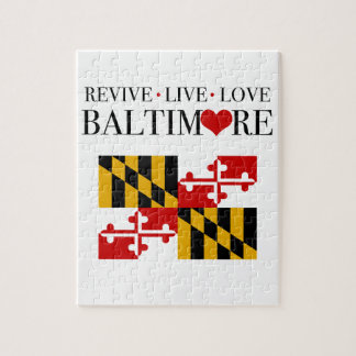 Revive Live Love Baltimore Jigsaw Puzzle