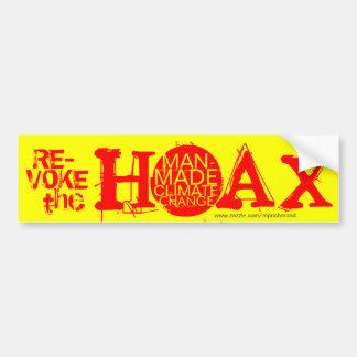 Revoke the hoax of man-made climate change bumper sticker