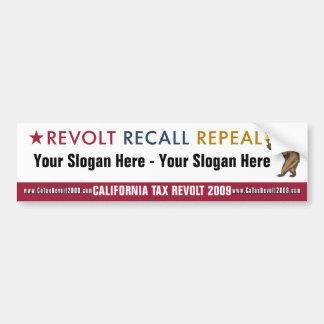 Revolt Recall Repeal - Custom Bumper Sticker