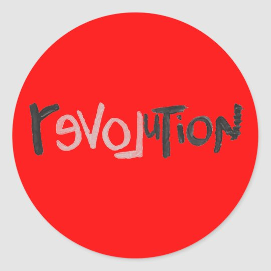 Revolution - Anti Social Classic Round Sticker