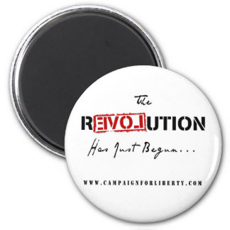 Revolution Button Magnet