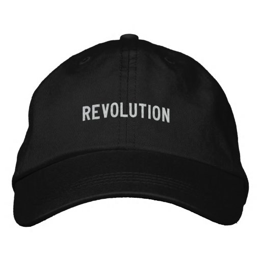 revolution embroidered baseball caps