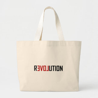 Revolution Love Art Large Tote Bag
