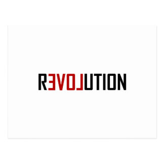 Revolution Love Art Postcard