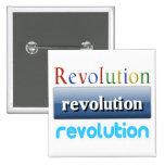 revolution pinback button