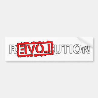 Revolution with love! bumper sticker