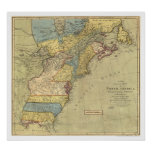 Revolutionary America Map 1771 Poster