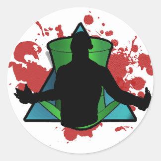 Revolutionary Fight Wear logo Classic Round Sticker