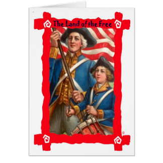 Revolutionary soldiers card