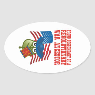 Revolutionary War Ancestor Oval Sticker