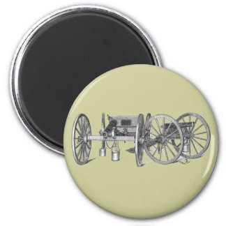 Revolutionary War Cannon 2 Inch Round Magnet
