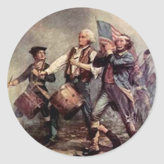 Revolutionary War Classic Round Sticker