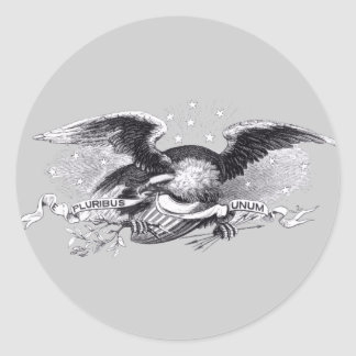 Revolutionary War Eagle Classic Round Sticker