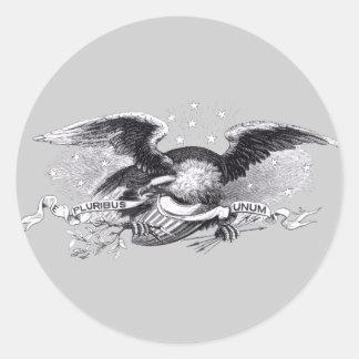 Revolutionary War Eagle Classic Round Sticker