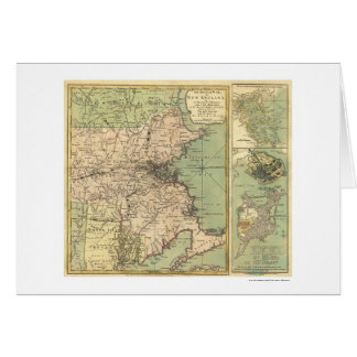 Revolutionary War Map - 1775 Card