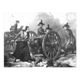 Revolutionary War Molly Pitcher Cannon Postcard