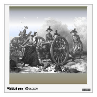 Revolutionary War Molly Pitcher Cannon Wall Decal