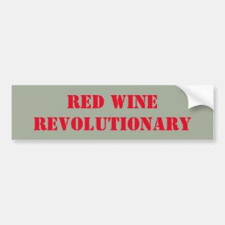 Révolutionnaire de vin rouge autocollant de voiture