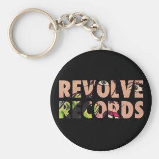 Revolve Records logo Keychain