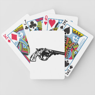Revolver Pistol Bicycle Playing Cards