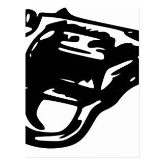 Revolver Pistol Postcard