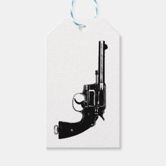 Revolver Silhouettes in Deep Black Gift Tags