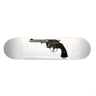 Revolver Silhouettes in Deep Black Skate Decks