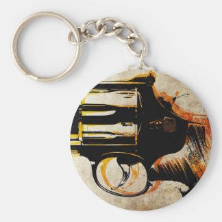 Revolver Trigger Basic Round Button Keychain