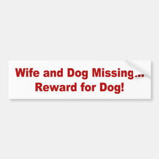 Reward for Dog Bumper Sticker
