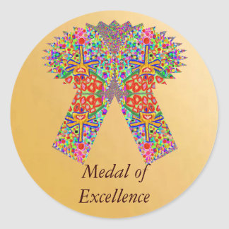 Reward n Award Excellence in Life Classic Round Sticker