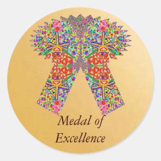 Reward n Award Excellence in Life Round Sticker