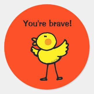 Reward sticker (You're brave!)
