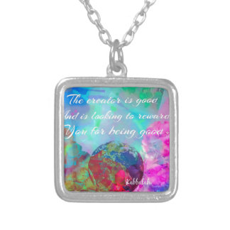 Rewards is coming up for good people silver plated necklace