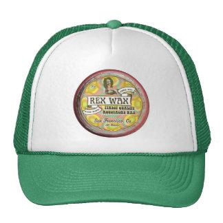 Rex Wax: Handmade Moustache Wax Green Trucker Hat