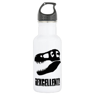 """Rexcellent!"" T-Rex Skull 532 Ml Water Bottle"