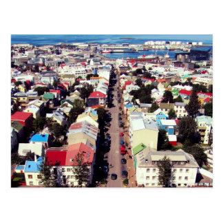 """""""Reyk Roofs"""" - Reykjavik, Iceland Postcard"""