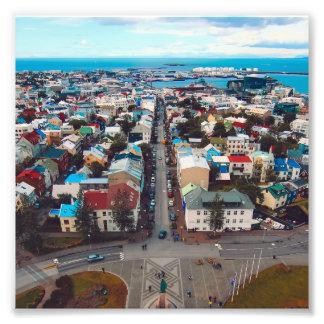 Reykjavik Aerial View Photo Print