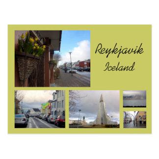 Reykjavik Collage Postcard