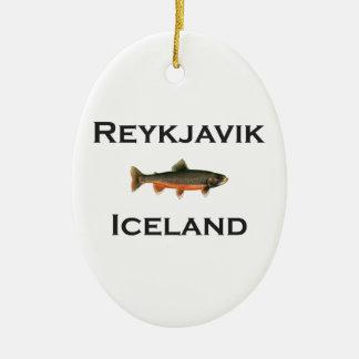 Reykjavik Iceland Ceramic Ornament